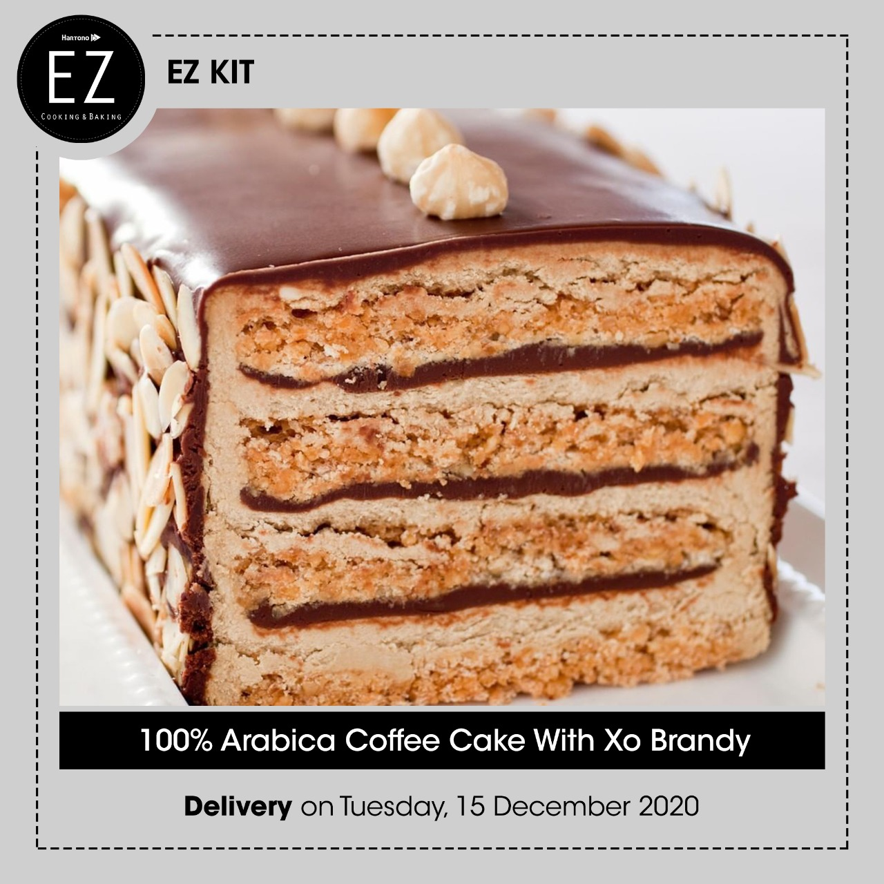 100 Arabica Coffee Cake With Xo Brandy Ez Cooking Baking